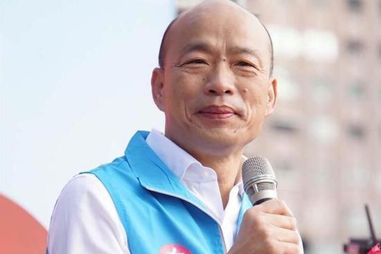 """韩国瑜。(图片来源:台湾""""中时电子报"""")"""
