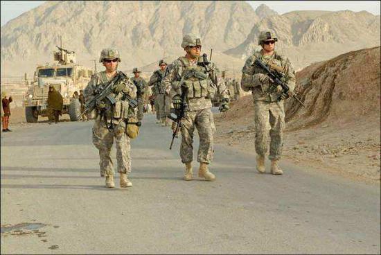 资料图:在阿富汗作战的美军。
