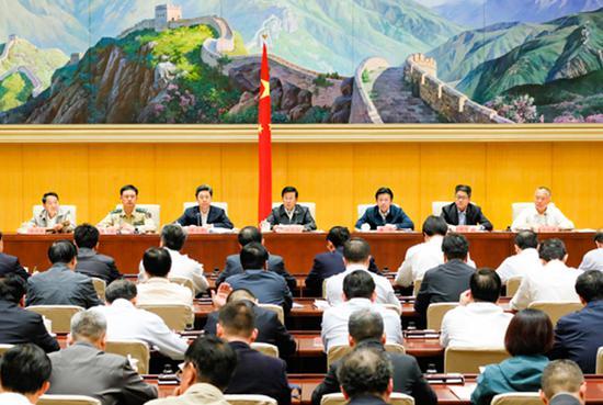 9月29日,國家反恐怖工作領導小組會議暨全國反恐怖工作電視電話會議在京召開,國務委員、國家反恐怖工作領導小組組長、公安部部長趙克志出席並講話。 中華人民共和國公安部網站 圖