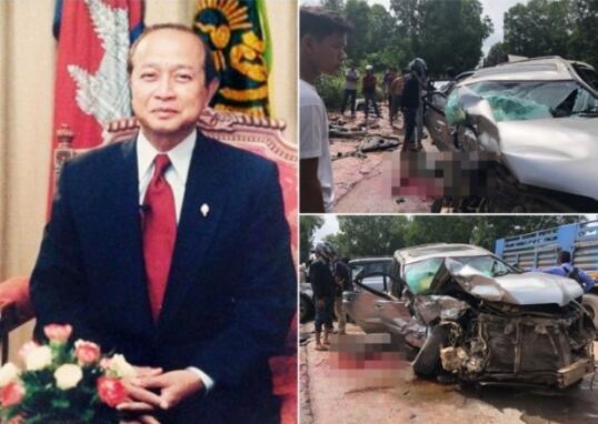 柬埔寨亲王车队惨遭车祸,王妃重伤不治。(图源:东网)