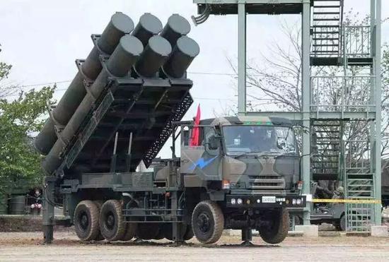 ▲日本陆上自卫队装置的12式岸舰导弹
