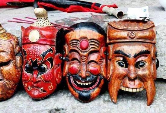 湘东傩面具