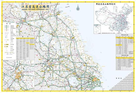 蘇南高速公路密度仍然要高于蘇北