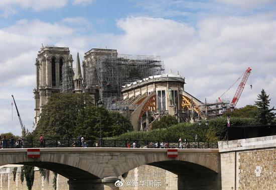 大火4个月后 巴黎圣母院修复得怎么样了?(图)