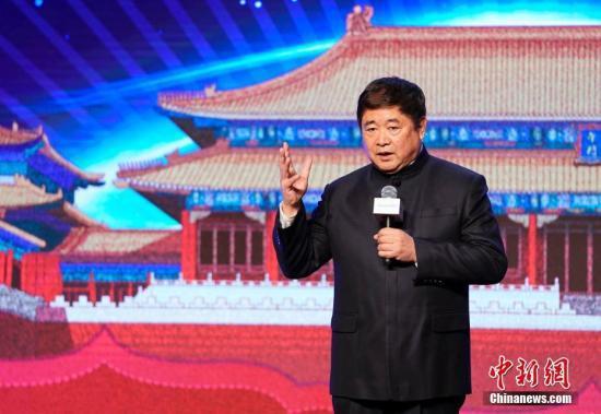 图为故宫博物院院长单霁翔在开幕式致辞。中新社记者 杜洋 摄