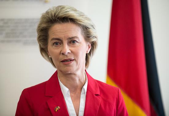 冯•德莱恩是德国国防部首位女部长 图自图片报