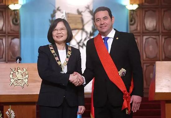 蔡英文与危地马拉总统莫拉莱斯