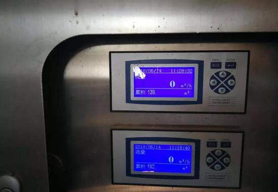 运转的垃圾渗滤液处理设施流量显示为0