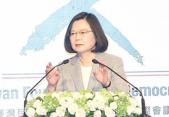 台湾地区领导人蔡英文。(图片来源:台湾《中时电子报》)