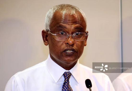 ▲馬爾代夫反對派候選人薩利赫獲得58.3%的選票,贏得大選,將成?下任總統。