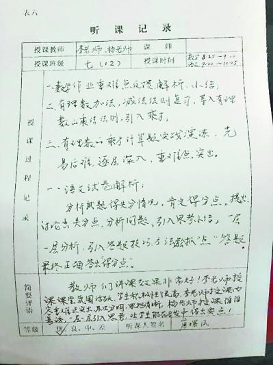 家长听课时写的课堂笔记