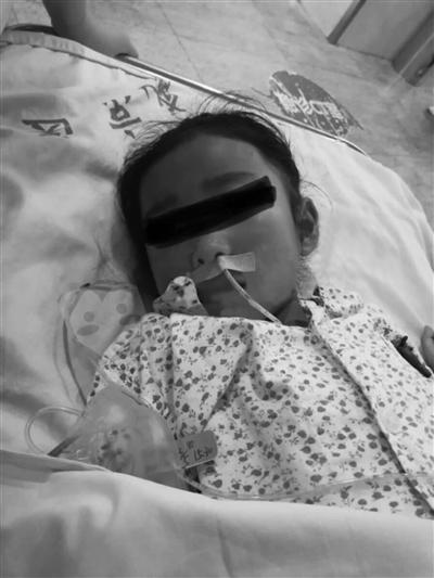 受伤女孩小甜已经脱离生命危险。家属供图