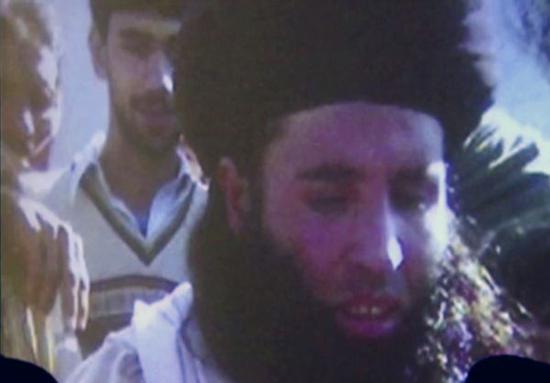 资料图片:这是2013年11月7日在巴基斯坦拍摄的法兹卢拉的视频截图。新华社/美联