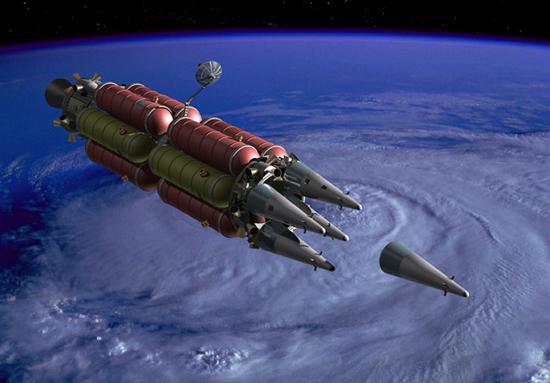 反卫星武器想象图。