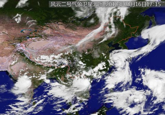 """台风""""温比亚""""16日夜到17日晨在浙沪沿海登陆"""