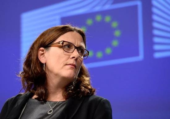 ▲近日,欧盟贸易专员塞西莉亚·马尔姆斯特伦访问美国进行贸易协商。