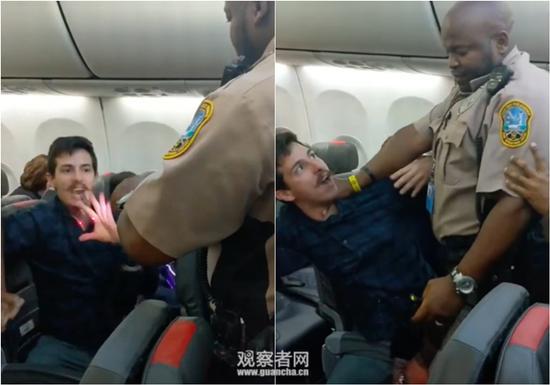 现场视频截图,男子在反抗过程中遭电击
