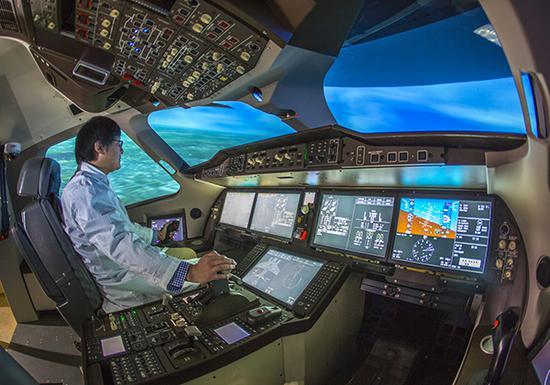C919大客机内部。目前已有国产玻璃被用于国产大飞机舷窗。东方IC 资料