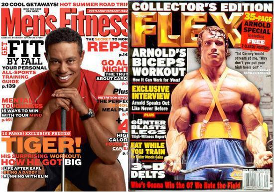泰格伍茲和施瓦星格都為AMI的系列雜志拍過封面