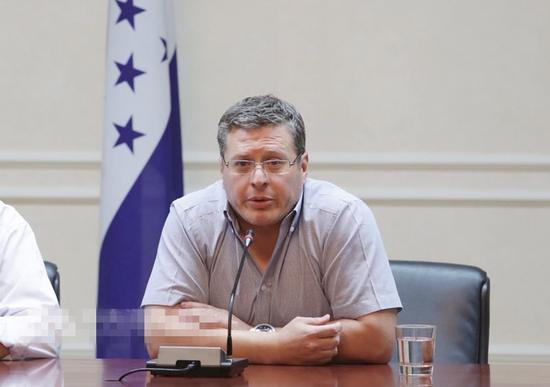 洪都拉斯驻台大使 图自台媒