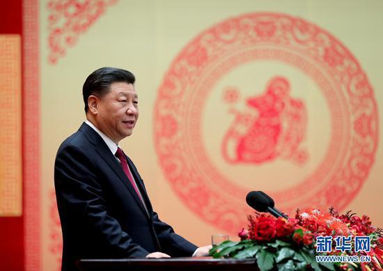 中共中央国务院举行春节团拜会 习近平发表讲话图片