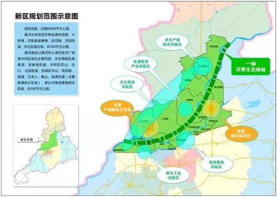 济南新区规划范围示意图