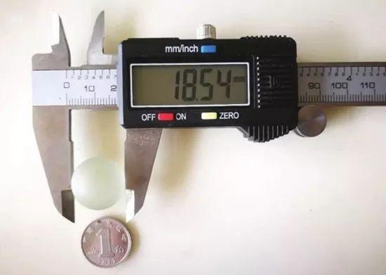弹珠直径达到18.54mm。