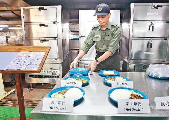 惩教署各院所主要会提供四类膳食供囚犯选择。