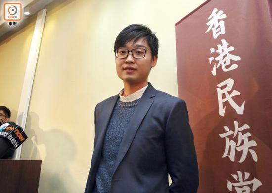 香港民族党召集人陈浩天 图片来自东网