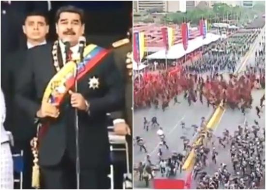 委内瑞拉总统遇袭:装炸弹无人机飞至讲台附近爆炸