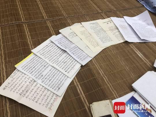 李锦莲在狱中手书的部分申诉材料以及历次审判的裁判文书