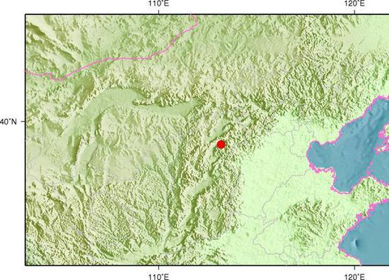 山西忻州市代县发生2.2级地震 震源深度0千米