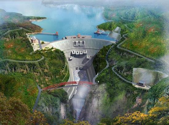 东庄水利枢纽效果图。 陕西省水利建设管理局官网 图