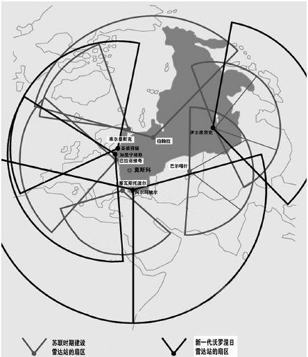 俄罗斯现役9座导弹袭击预警视距雷达站部署图