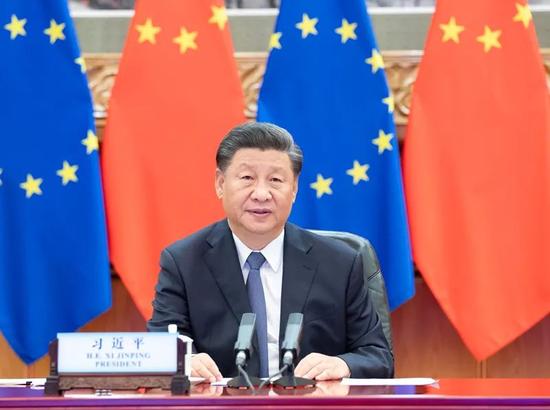 """习近平提出推动中欧关系""""4个坚持""""图片"""