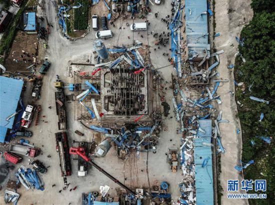 6月6日无人机航拍的事故现场 新华网 图