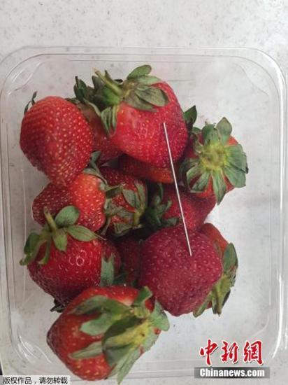 澳大利亚再曝草莓藏钉案 疑草莓怪客再现身