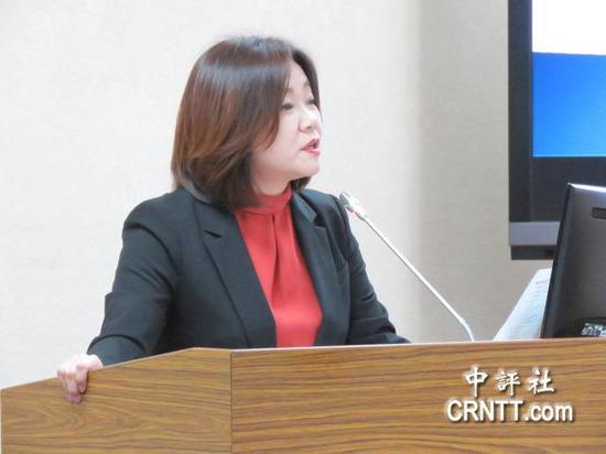 """国民党""""立委""""马文君(图片来源:中评社)"""