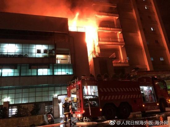 台湾工厂大火已确认7人死亡 5名消防员殉职失节事大