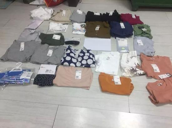 女子网购消磁解扣器 优衣库疯狂偷28件衣服