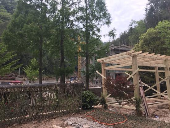 五马林场正在动工建设国家级森林公园景区。