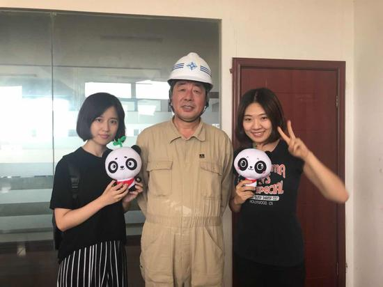 环环与天航局副总工程师王健