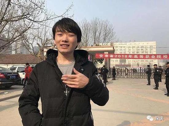今年3月徐孟南参加2018年高考