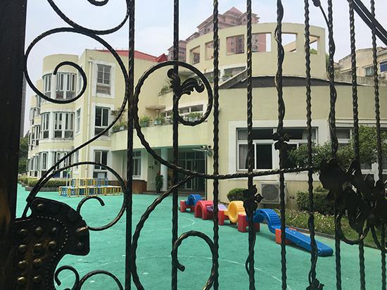 2018年6月5日,澎湃新闻记者来到上海浦东蓝贝壳幼儿园。澎湃新闻记者 臧鸣 图