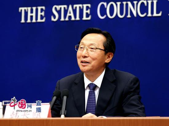 农业农村部部长韩长赋回答记者提问 中国网 宗超 摄