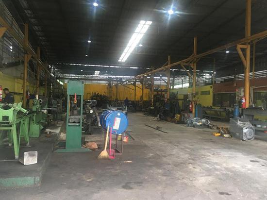 船厂车间。澎湃新闻记者 邓雅菲 图