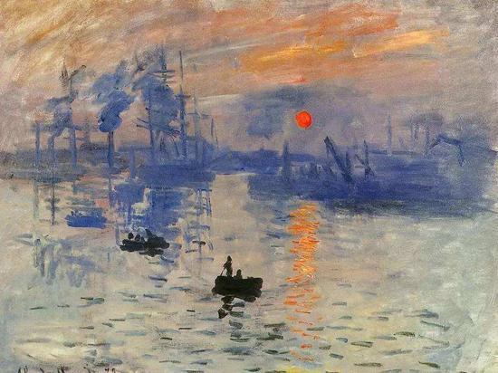 《日出印象》是莫奈1872年在勒阿弗尔港口创作的一幅油画,被后世视为印象派的代表作,现收藏于法国巴黎的马蒙坦莫奈美术馆。