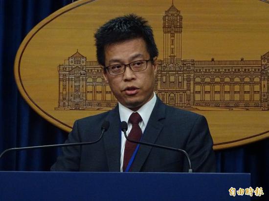 蔡英文办公室发言人黄重谚(图片来源:《自由时报》