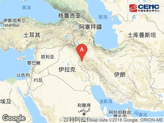 伊朗西部附近发生6.0级左右地震