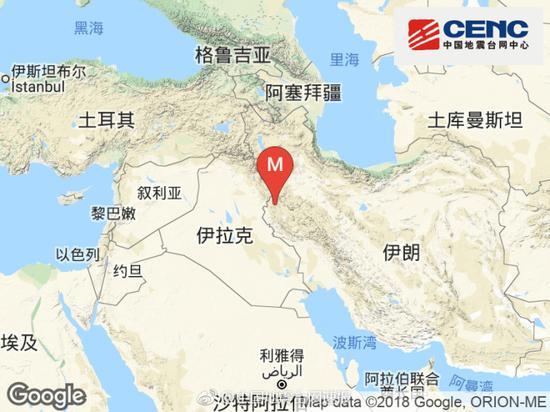 伊朗发生6.1级地震 震源深度10千米